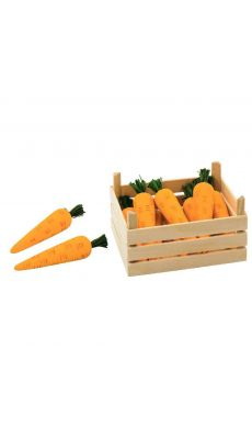 Cagette de 10 carottes en bois