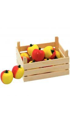 Cagette de 10 pommes en bois