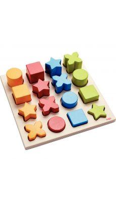 Encastrement en bois de 16 pièces, mix formes