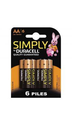 Duracell - 111943 - Pile alcaline 1.5V - LR6 AA - Blister de 6 piles