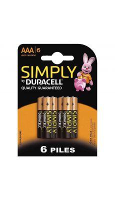 Duracell - 111967 - Pile alcaline 1.5V - LR03 AAA - Blister de 6 piles