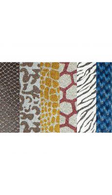 Pochette de 6 feuilles pailletés adhésives motifs animaux