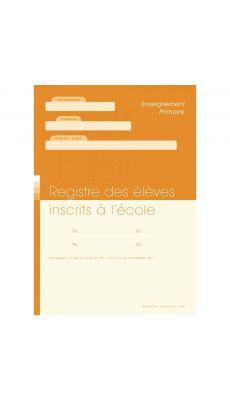 Registre des élèves inscrits à l'école A4 (21 x 29,7 cm), 56 pages