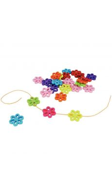 Perles fleurs multicolores assorties - Sachet de 400