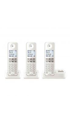 PHILIPS - D2353W/FR - Pack trio téléphone PHILIPS répondeur D2353