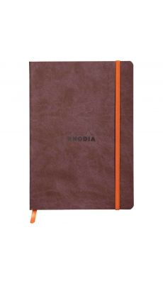 RHODIA - Carnet RHODIARAMA, format A5 160 pages, ligné - Coloris Chocolat