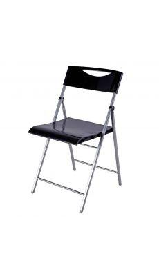 ALBA - CPSMILE - Chaise pliante Smile laquée noire