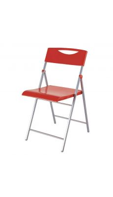 ALBA - CPSMILE R - Chaise pliante Smile laquée rouge