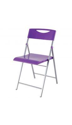 ALBA - CPSMILE P - Chaise pliante Smile laquée violet
