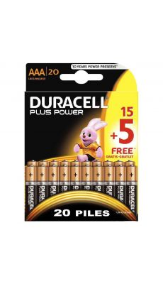 Blister de 15 + 5 piles plus power 1.5v LR03