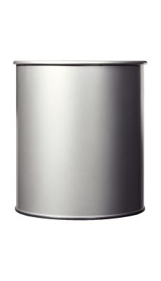 ROSSIGNOL - Corbeille à papier métal 30 litres gris