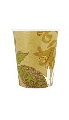 Gobelet en carton bio-dégradable pour boissons chaudes 24 cl - sachet de 50