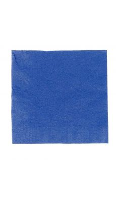Serviettes ouate 33x33 bleu marine - Paquet de 50