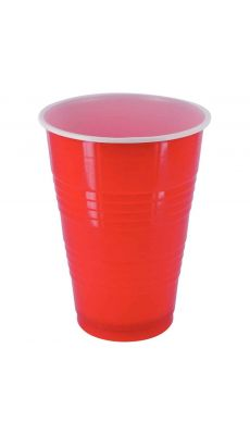 Gobelets pong 40cl rouge - Lot de 25
