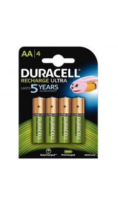 Duracell - 057043 - Pile rechargeable AA 2500A - Blister de 4