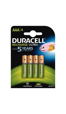 Duracell - 203822 - Pile rechargeable AAA 850A - Blister de 4