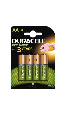 Duracell - 403924 - Pile rechargeable AA 1300A - Blister de 4