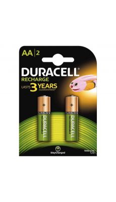 Duracell - 039209 - Pile rechargeable AA 1300A - Blister de 2