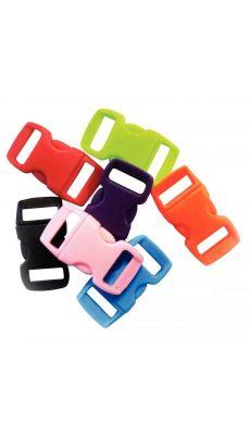 Clips en plastique, coloris assortis - Paquet de 100