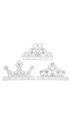 Diadèmes en carton avec ruban de 3 modèles différents - Lot de 6