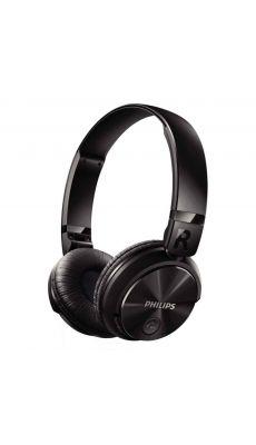 Casque stéréo Bluetooth PHILIPS noir.
