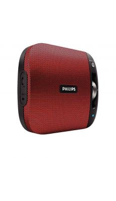 Enceinte Bluetooth portable PHILIPS rouge