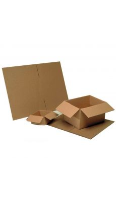 Cartons d'emballage 360x270x160 simple cannelure - Paquet de 25