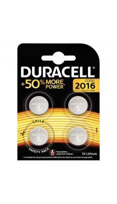 Duracell - 119314 - Pile lithium 3V  - CR2016 - Blister de 4