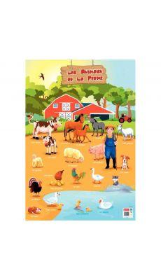 Poster PVC 76x52cm animaux de la ferme