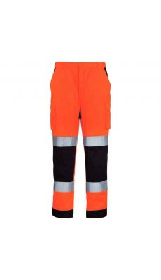 Pantalon haute visibilité orange L