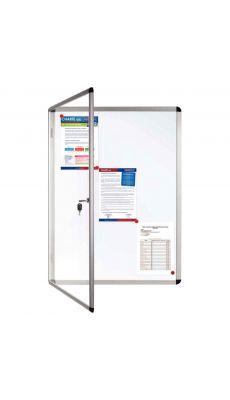 Bi-office - VT620109150 - Vitrine intérieur fond métal pour 6 documents A4