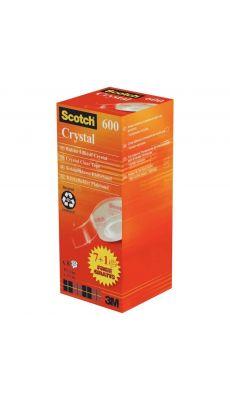 SCOTCH - Tour de 8 rouleaux adhésifs Crystal, 19mm x 33M