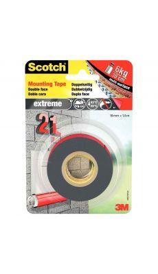 SCOTCH - Rouleau de fixation double face extra fort Scotch, 19mm x 1,5m