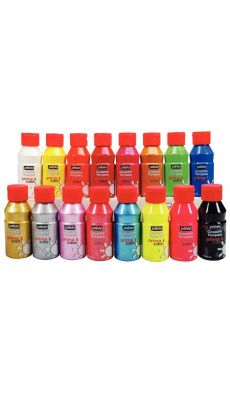 PRIMA COLOR - Gouache liquide PRIMACOLOR - Carton de 16 flacons de 150ml