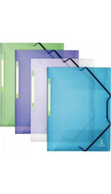 Chemise 3 rabats + élastique en polypropylène 2ND LIFE. Format 24 x 32 cm. Coloris assortis