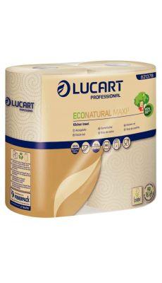 LUCART - 821378F - Essuie-tout 2 plis Natural  - Lot 2 rouleaux