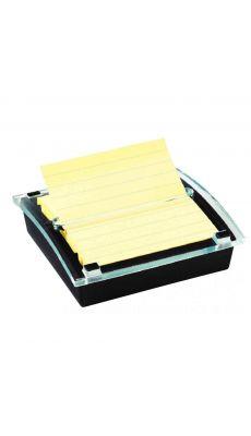 POST-IT - Distributeur bloc Millénium garni d'un bloc de 90 feuilles Z-Notes jaune lignées