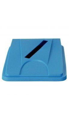 Couvercle papier tri sélectif 60/80 litres bleu