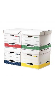 Bankers box - 0039301 - Container archive assortis - Paquet de 12