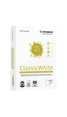 STEINBEIS - Ramette papier A3 ClassicWhite 100% recyclé 80g - Blanc