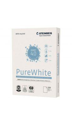 STEINBEIS - Ramette papier A3 PureWhite 100% recyclé 80g - Blanc
