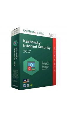 KASPERSKY - Logiciel 2017 Antivirus valable 1 an pour 1poste