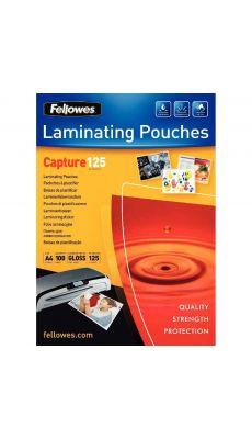 Fellowes - 5307407 - Pochette de plastification A4 - 125 microns - Boite de 100