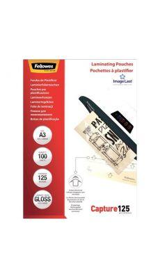 Fellowes - 5307506 - Pochette de plastification A3 - 125 microns - Boite de 100