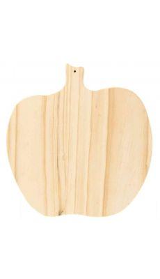 Dessous de plat en forme de pomme, en bois naturel à décorer - Lot de 5