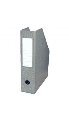 L'OBLIQUE - 400080227 - Boite de classement en PVC à pan coupé - Dos 7cm - Gris