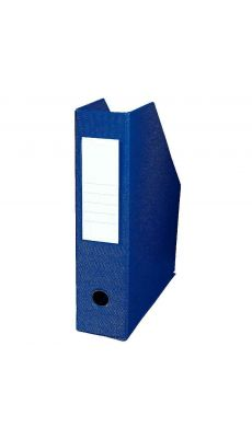 L'OBLIQUE - 400080223 - Boite de classement en PVC à pan coupé - Dos 7cm - Bleu