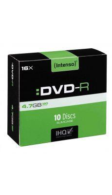 Intenso - 5185 - DVD-R vierge 4,7 Go - Boîtier slim et vitesse 16 X - Paquet de 10