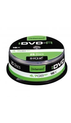 Intenso - 4331 - DVD-R vierge 4,7 Go - Spindle 25 et vitesse 16 X - Lot de 25