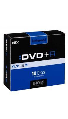 Intenso - 5222 - DVD+R vierge 4,7 Go - Boîtier slim et vitesse 16 X - Paquet de 10